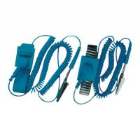 China Professional Electrical Equipment ESD Wrist Strap With Wire , Rubber And Alloy Material on sale