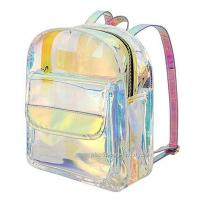 China Young Lady Shiny Hologram Transparent Shoulder Bag Girl Makeup Organizer and Travel Bag wholesale