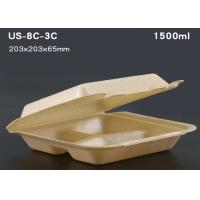 Takeaway lunch box bagasse disposable biodegradable clamshell food container