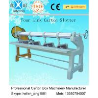 China Four Link Slotting Machine , Carton Paper Corrugated Box Making Machinery wholesale