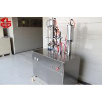 Buy cheap Refrigerant Freon Under Cap Vacuum Semi Automatic Aerosol Filling Machine For R134a / R410a / R22 from wholesalers