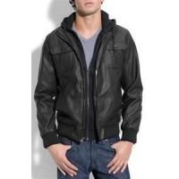 China S M L XL Windproof customized Men's fleece lined genuine leather jackets wholesale