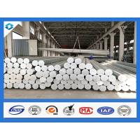 Buy cheap 35FT 3mm Thick Q345 Galvanized Metal Pole Electric Steel Poles 500KGF Load from wholesalers