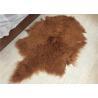China Soft Curly Long Hair Large White Sheepskin Rug 100% Mongolian / Tibetan Lamb Fur wholesale