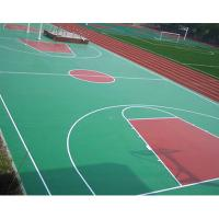 China Synthetic Outdoor Rubber Flooring , Workout Room Flooring With Marking Line wholesale