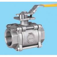 China 3PCS SS SW Floating Ball Valve With Flanged Ends DIN / BS / ANSI Standard on sale