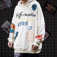 China clothing manufacturer for small business All Match 80 Cotton 20 Polyester Hoodie Three Dimensional Printing wholesale