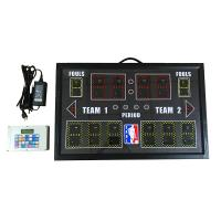 China PBS12D-GRY Indoor Portable Baskebtall Scoreboard With Customized LOGO wholesale