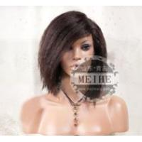 China Popular kinky 33# 10inch with baby hair human wig wholesale