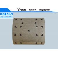 China ISUZU CYZ Brake Lining 1471260930 Camber Brake Pad 17 Rivet Holes 2 Sensor Holes wholesale