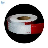 "China High Intensity DOT Reflective Tape , Red And White Reflective Tape For Trucks Trailers 6"" wholesale"
