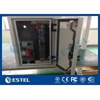 China Climate Controlled Cabinet Pole Mount Enclosure Cutomized DC48V Fans Cooling wholesale
