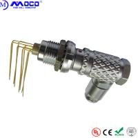 China PCB Push Pull Electrical Connectors Right Angle Male And Elbow Contacts Female wholesale