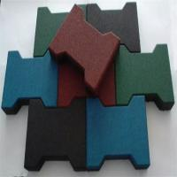 China Dog Bone Shaped Rubber Sports Flooring , Sports Flooring Interlocking Tiles wholesale