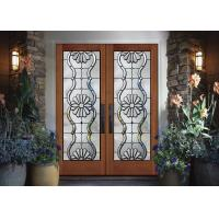 Buy cheap added light Dedorative Sliding Glass Door , Black Patina Internal Glass Sliding Doors from wholesalers