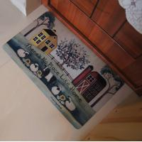 China Recycled Rubber Floor Carpet Antislip With Logo Print For Bed Room Decoration on sale