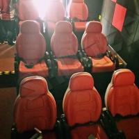 China Excellent Design Electric 5D Theater Seats For Mini Cinema Red Color wholesale