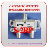 China CATV/MATV 2-way splitter with 360 degree round PIN on sale