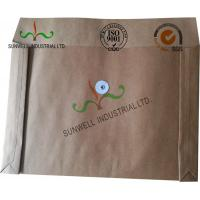Quality Kraft Paper Custom Printed Business Envelopes With String Closure Accordion Shape for sale