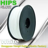 China Custom White HIPS 3D Printer Filament 1.75mm / 3mm , Reusable 3D Printing Material wholesale