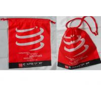 China Customized Women's favorite / convenie nce / festive red / drawstring plastic bags  for gifts / clothing, clothes. wholesale