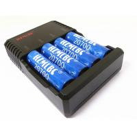 China Durable E Cig Battery Charger 18650 20700 Battery Charger 4 Channel Black Color on sale