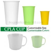 China CPLA reusable cup and lid with injection molding, take out PLA degradable cups, hot beveragePLA cups on sale
