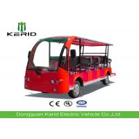 Buy cheap Red Color Tourist Electric Sightseeing Car With 14 Seats Battery Operated from wholesalers
