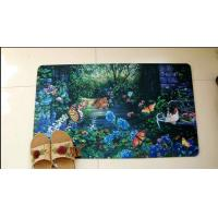 China Customized Polyester Rubber Floor Carpet , Sublimation Printing Rubber Door Mat wholesale