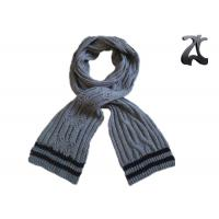 China Men Cable Knitted Neck Scarf , Thick 100% Acrylic Chunky Knitted Winter Scarf wholesale