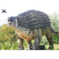 China Animatronic Outdoor Dinosaur Statues , Dinosaur Yard Decorations With Infrared Ray Sensor on sale