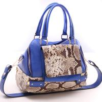 China Blue / Grey Office Ladies Crossbody Leather Handbags Exquisite For Work on sale