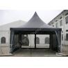 China White High Peak Tents , Aluminium Pagoda Tent Custom Made Color And Wall Material wholesale