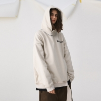 China S-XL Solid Color Pullover Ladies Oversized Hoodies wholesale