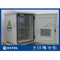 China Fan Cooling Outdoor Battery Cabinet For Pole Mount / Wall Mount Auxiliary Direct Ventilation Holes wholesale
