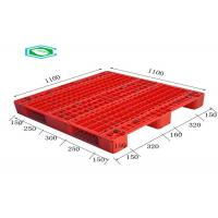 China Racking Design Euro Plastic Export Pallets Single Faced Reinforced Rectangle Grid wholesale