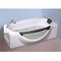 China 1800MM Small Portable Hot Tubs , Single Person Freestanding Whirlpool Tub With Light wholesale