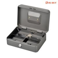 China Three Cell Metal Cash Box With Lock Coin Storage Money Safe Wear Resistance wholesale