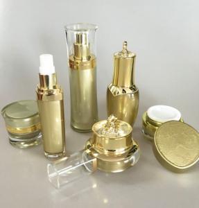 China Silk Printing PP Small 15ml 15g Acrylic Empty Matt Cosmetic Cream Jar wholesale