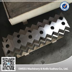 China Vecoplan 70 Plastic Shredder Blades / Sharpen Shredder Blades High Toughness wholesale