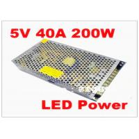 China MeanWell 200W 5V 40A Ultra Thin Waterproof LED Power Supply for SMD DIP LED Screen wholesale