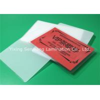 China Round Corner Hot Lamination Film , Moisture Proof Laminating Sleeves Pouches wholesale