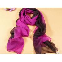 China 2013 new fashion purple and brown gradient color Hand Painted Silk Scarf/chiffon scarves shawls wholesale
