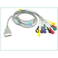 China Copper Conductor ECG Patient Cable , TPU ECG Holter Cable 10/12 Lead With Snap wholesale