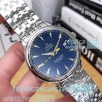 Buy cheap High Quality Copy Omega Seamaster Men's Watch-SS Blue Dial men's luxury watch from wholesalers
