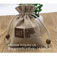 Buy cheap Burlap Bags with Drawstring, 4x6 Inch Rustic Gift Bag Bulk Pack - Wedding Party from wholesalers