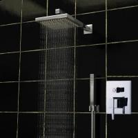 Details Of Shower Bath Mixer Set Square Ceiling Mounted Rain Shower Heads 140
