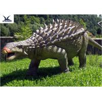Quality Life Size Animatronic Dinosaur Realistic Resin Waterproof Ankylosaurus Display for sale