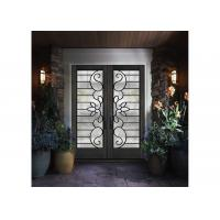 Buy cheap a lasting impression  Front Doors With Glass Custom Spray Coating Hot Dip Galvanize from wholesalers