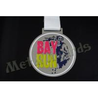 China 2D Desigh Custom Sports Medals School Medallions 850*25mm Sublimated Ribbon wholesale